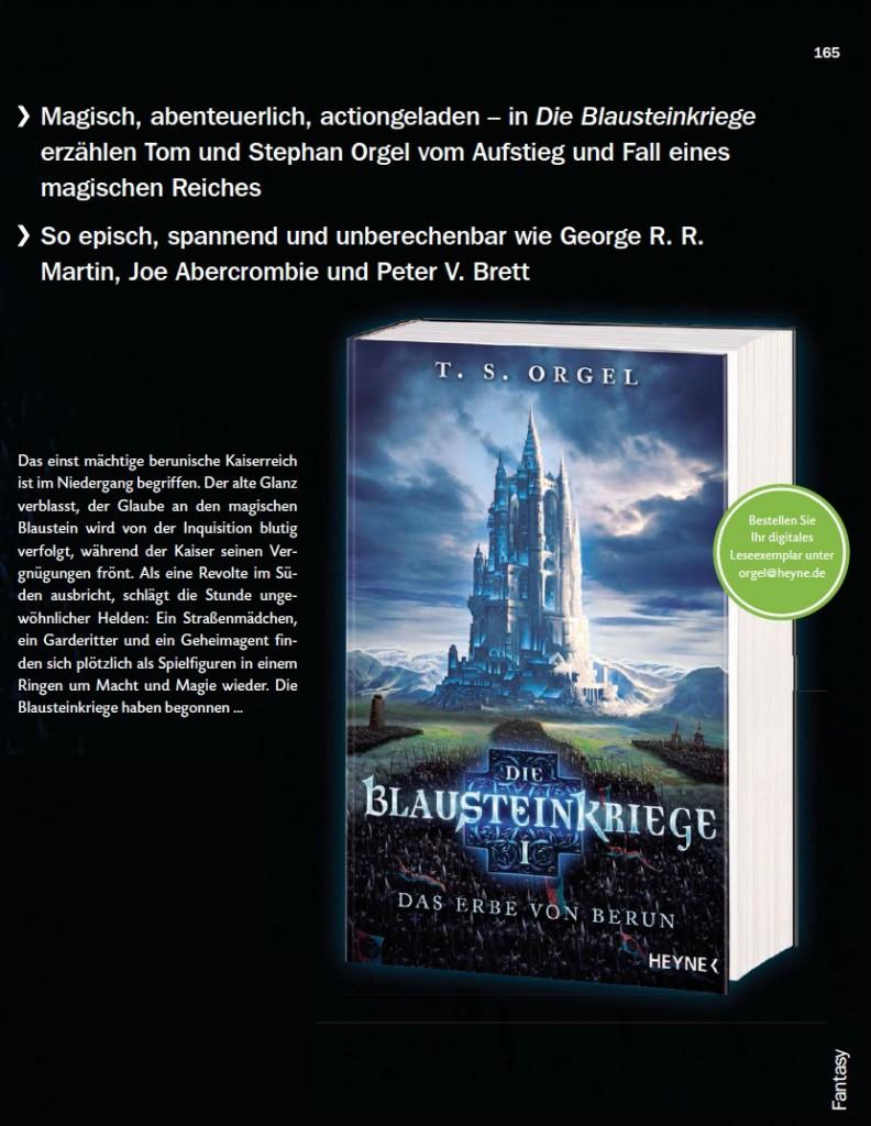 Blausteinkriege-Blurb-Katalog